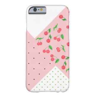 cute watercolor cherry drawing polka dots pattern barely there iPhone 6 case