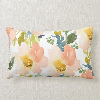 Cute Watercolor Floral Pattern Lumbar Pillow