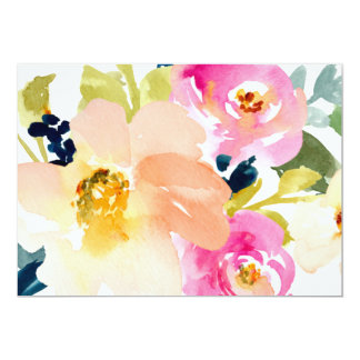 Cute Watercolor Flowers Bouquet Card