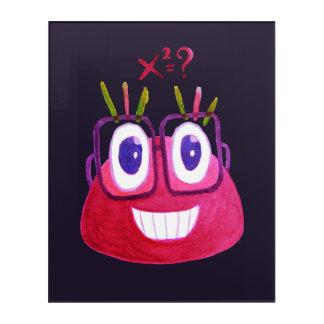 Cute Watercolor Geek Candy Character Mathematician Acrylic Wall Art