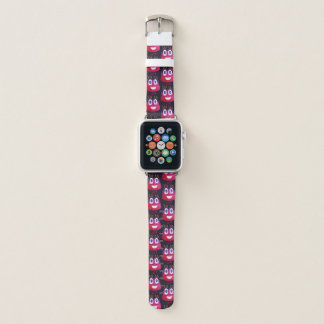 Cute Watercolor Geek Candy Character Mathematician Apple Watch Band