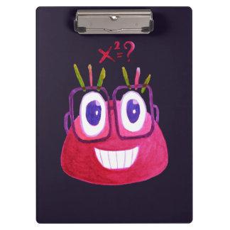 Cute Watercolor Geek Candy Character Mathematician Clipboard