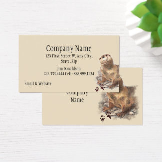 Cute Watercolor Otter Wildlife Animal art Business Card