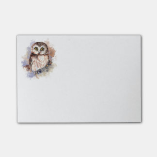 Cute Watercolor Owl Bird Nature art Post-it Notes