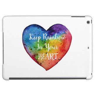 Cute Watercolor Rainbow Heart