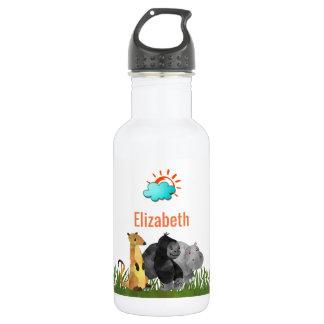Cute Watercolor Safari Jungle Animals 532 Ml Water Bottle