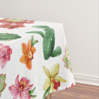 Cute Watercolor Succulent hand drawn pattern Tablecloth