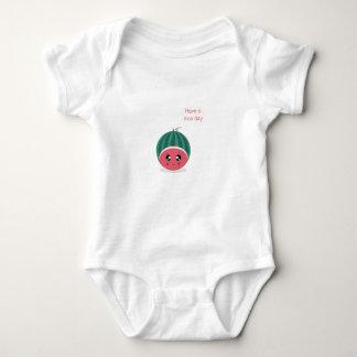 cute watermelon baby bodysuit