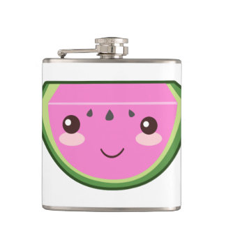 Cute Watermelon Illustration Flasks