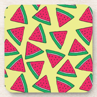 Cute Watermelon Slice Cartoon Pattern Coaster