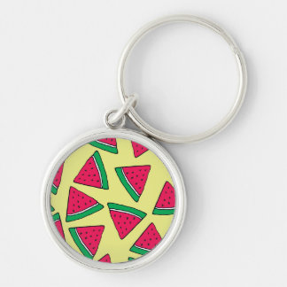 Cute Watermelon Slice Cartoon Pattern Key Ring