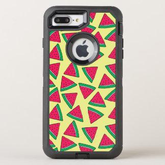 Cute Watermelon Slice Cartoon Pattern OtterBox Defender iPhone 8 Plus/7 Plus Case