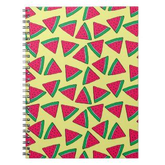Cute Watermelon Slice Cartoon Pattern Spiral Notebook