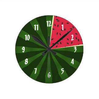 Cute Watermelon Summertime Melon Clock