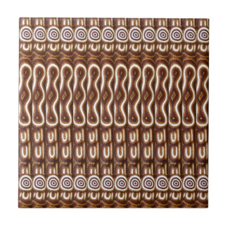 CUTE Wave Sparkles on Chocolate Brown Base Small Square Tile