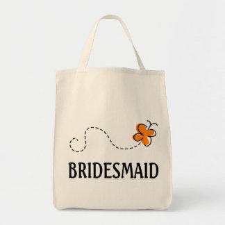 Cute Wedding Bridesmaid Tote Bag