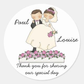 Cute Wedding Couple Stickers