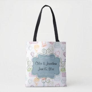 Cute Wedding Custom Tote Bag