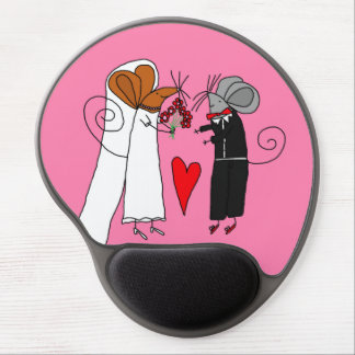 Cute Wedding Mice Gel Mouse Mats