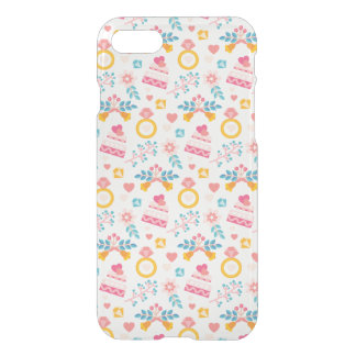 Cute Wedding Ring Cake Flowers Love iPhone 7 Clear iPhone 7 Case
