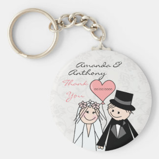 Cute Wedding thank you and welcome gifts Basic Round Button Key Ring