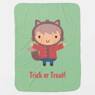 Cute Werewolf Boy, Baby Halloween Receiving Blankets