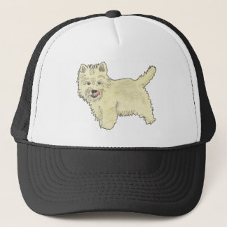 Cute West Highland Terrier Dog Art Painting Design Trucker Hat