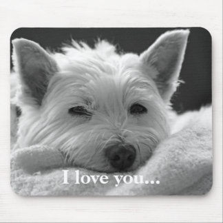 Cute West Highland Terrier Dog Mousemat / Mousepad