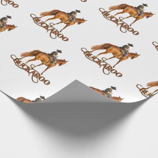 Cute Western Buckaroo Little Cowboy Wrapping Paper