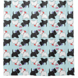 Cute Westie Dog Art Shower Curtain