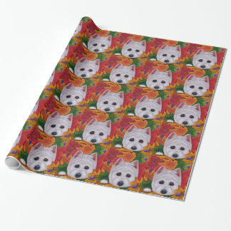 Cute Westie Dog West Highland Terrier Creationarts Wrapping Paper