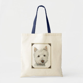Cute Westie Dog with torn paper edges design