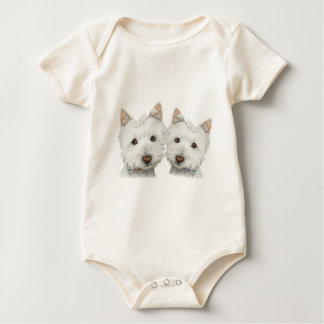 Cute Westie Dogs Baby Clothing Baby Bodysuit