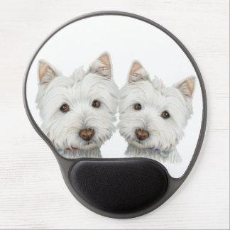 Cute Westie Dogs Gel Mouspad Gel Mouse Pad
