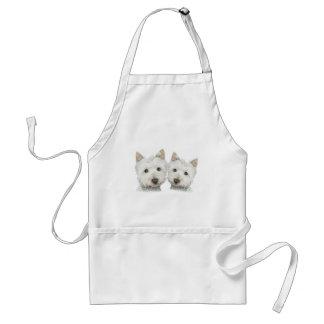 Cute Westie Dogs Standard Apron