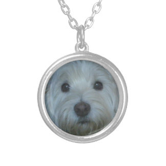 Cute Westie Face Necklace