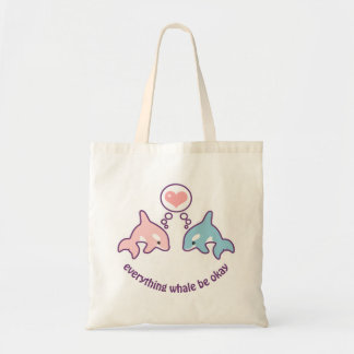 Cute Whales Tote Bag