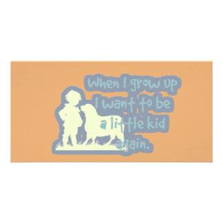 "Cute ""When I grow up..."" Photo Cards"