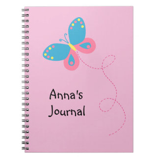 Cute Whimsical Butterfly Personalized Notebook