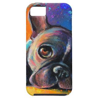 Cute Whimsical French Bulldog dog puppy Novikova iPhone 5 Covers