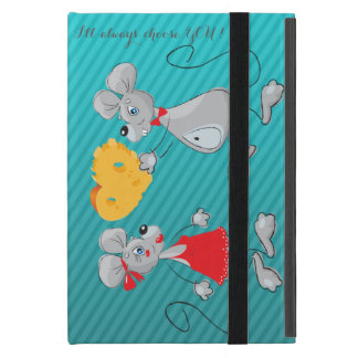 Cute Whimsical  Mouses-I`ll always choose you iPad Mini Cover