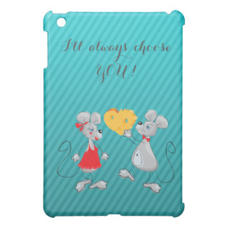 Cute Whimsical  Mouses-I`ll always choose you iPad Mini Covers