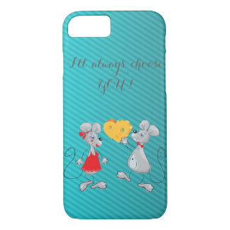 Cute Whimsical  Mouses-I`ll always choose you iPhone 8/7 Case