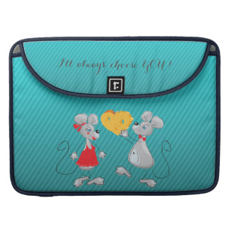 Cute Whimsical  Mouses-I`ll always choose you Sleeve For MacBooks