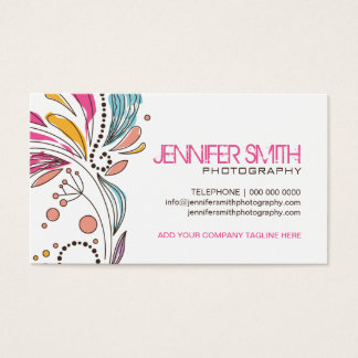 Cute Whimsical Photographer Business Cards