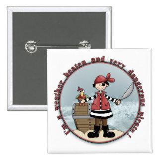 Cute, whimsical Pirate design 15 Cm Square Badge