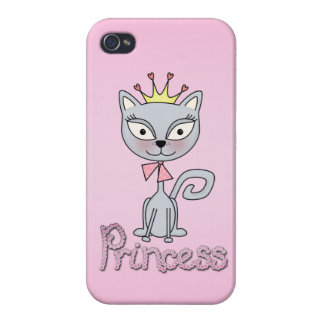 Cute Whimsical Princess Kitty Cat iPhone 4 Case