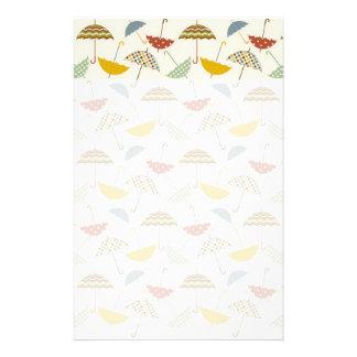 Cute Whimsical Rainy Day Umbrella Pattern Personalised Stationery