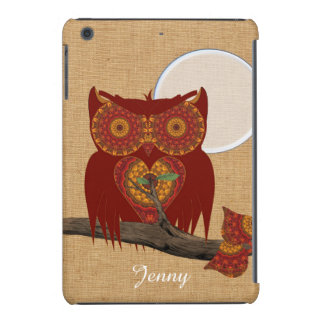 Cute Whimsy Big Eyed Night Owl iPad Mini Retina Covers