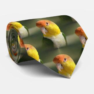 Cute White Bellied Caique Parrot Tie